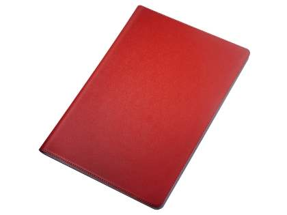 Premium Genuine Leather Slim Portfolio Case with Stand for iPad Air 3rd Gen (2019) - Red