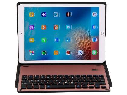 Smart Bluetooth Keyboard Case for iPad Air (2019) - Rose Gold Keyboard