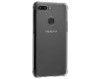 Gel Case with Bumper Edges for OPPO AX5s - Clear Soft Cover
