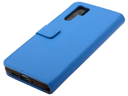 Synthetic Leather Wallet Case with Stand for Huawei P30 Pro - Blue Leather Wallet Case