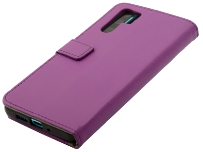 Synthetic Leather Wallet Case with Stand for Huawei P30 Pro - Purple Leather Wallet Case