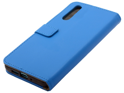 Synthetic Leather Wallet Case with Stand for Huawei P30 - Blue Leather Wallet Case