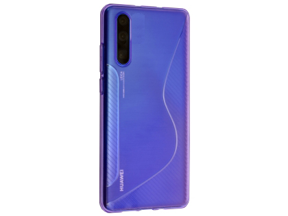 Wave Case for Huawei P30 - Purple Soft Cover