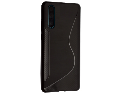 Wave Case for Huawei P30 - Black Soft Cover