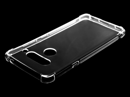 Gel Case with Bumper Edges for LG V40 ThinQ - Clear Soft Cover