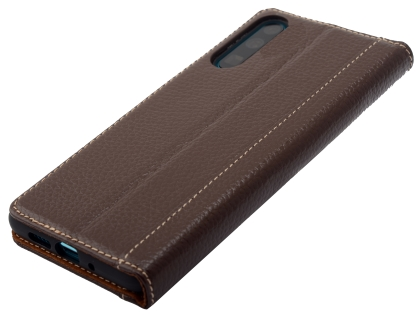 Premium Leather Case for Huawei P30 - Brown Leather Wallet Case