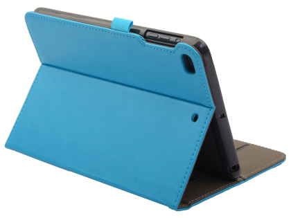 Synthetic Leather Case with Stand for iPad Mini (2019) - Sky Blue