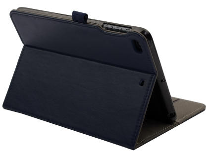 Synthetic Leather Case with Stand for iPad Mini (2019) - Navy Leather Flip Case