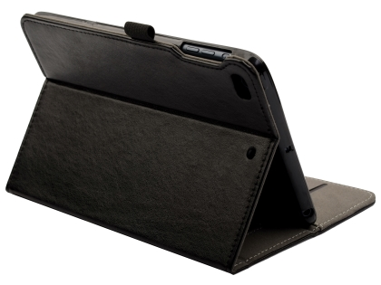 Synthetic Leather Case with Stand for iPad Mini (2019) - Black Leather Flip Case