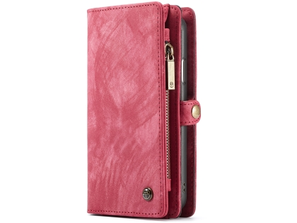CaseMe 2-in-1 Synthetic Leather Wallet Case for iPhone XR - Rose