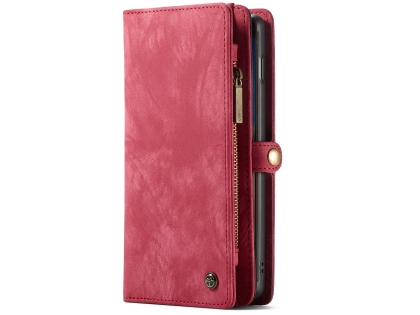 CaseMe 2-in-1 Synthetic Leather Wallet Case for Samsung Galaxy S10 - Pink/Blush Leather Wallet Case