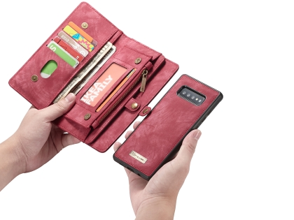 CaseMe 2-in-1 Synthetic Leather Wallet Case for Samsung Galaxy S10+ - Pink/Blush
