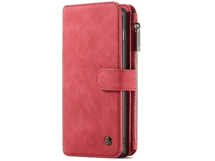 CaseMe 2-in-1 Synthetic Leather Wallet Case for Samsung Galaxy S10 - Rose Leather Wallet Case