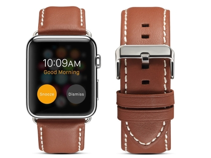 Premium Leather Band for 38/40 mm Apple Watch  - Caramel Watch Band
