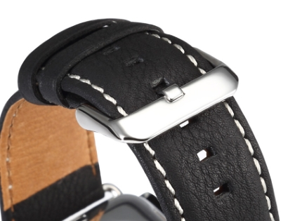 Premium Leather Band for 38/40 mm Apple Watch  - Black