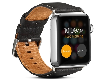 Premium Leather Band for 42/44 mm Apple Watch  - Black