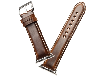 Premium Rustic Inspired Leather Band for 38/40 mm Apple Watch  - Burnt Orange