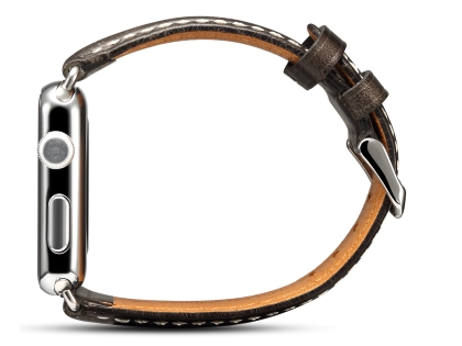 Premium Rustic Inspired Leather Band for 38/40 mm Apple Watch  - Charcoal