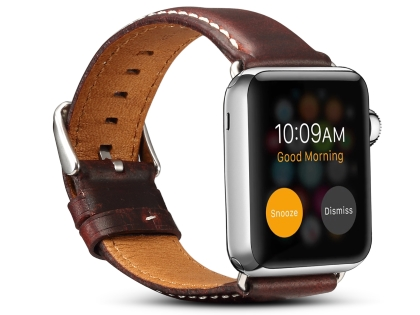 Premium Rustic Inspired Leather Band for 38/40 mm Apple Watch  - Maroon