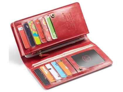 CaseMe Slim Wallet With Mobile Pouch - Red