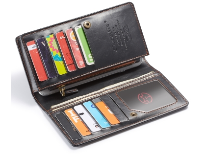 CaseMe Slim Wallet With Mobile Pouch - Black