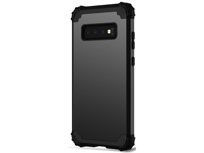 Defender Case for Samsung Galaxy S10 - Black Impact Case