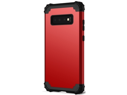 Defender Case for Samsung Galaxy S10 - Red Impact Case