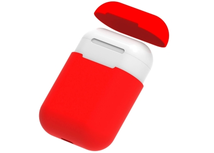 Soft Silicone Case for Apple AirPods  - Red