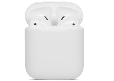 Soft Silicone Case for Apple AirPods  - White Sleeve