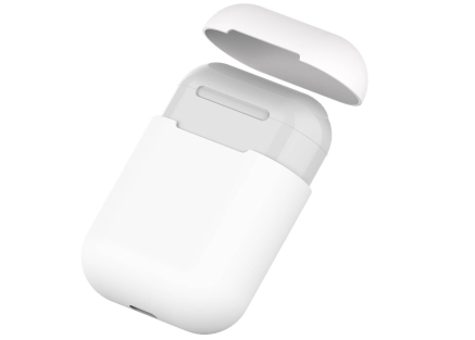 Soft Silicone Case for Apple AirPods  - White