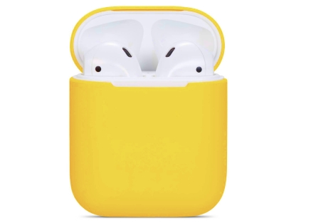 Soft Silicone Case for Apple AirPods  - Yellow Sleeve