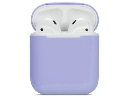 Soft Silicone Case for Apple AirPods  - Violet Sleeve