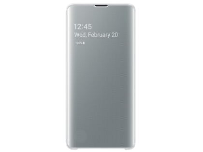 Genuine Samsung Galaxy S10 Clear View Cover - White S View Cover
