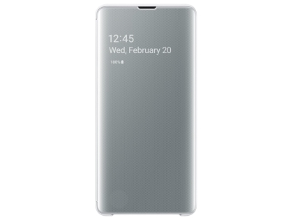 Genuine Samsung Galaxy S10+ Clear View Cover - White S View Cover