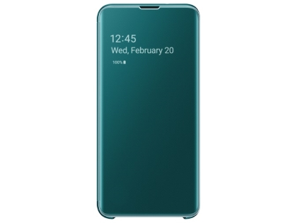 Genuine Samsung Galaxy S10e Clear View Cover - Green S View Cover