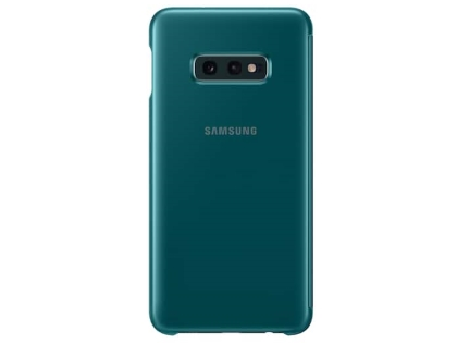 Genuine Samsung Galaxy S10e Clear View Cover - Green