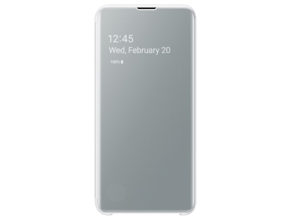 Genuine Samsung Galaxy S10e Clear View Cover - White S View Cover