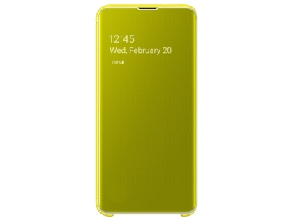Genuine Samsung Galaxy S10e Clear View Cover - Yellow S View Cover