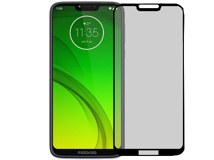 Anti Glare Tempered Glass Screen Protector for the Moto G7 Power - Black Screen Protector