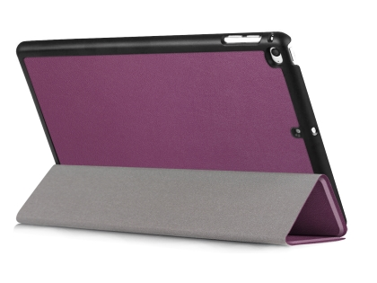 Premium Slim Synthetic Leather Case with Stand for the iPad mini 4/5 - Purple