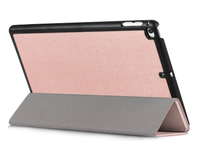 Premium Slim Synthetic Leather Case with Stand for the iPad mini 4/5 - Rose Gold Leather Flip Case