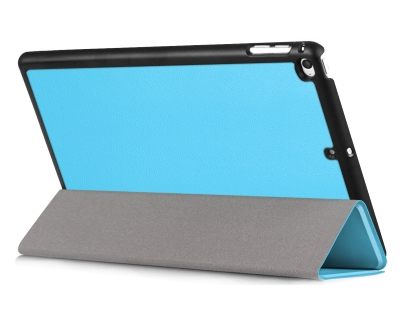 Premium Slim Synthetic Leather Case with Stand for the iPad mini 4/5 - Sky Blue Leather Flip Case