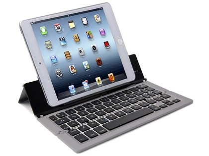 Ultra Portable Bluetooth Mini Keyboard with Stand - Space Grey Keyboard