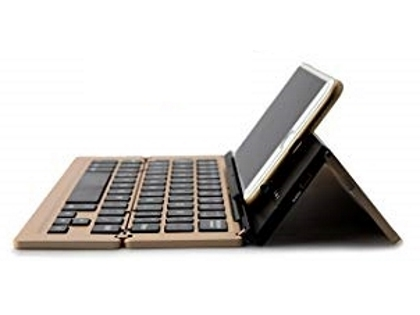 Ultra Portable Bluetooth Mini Keyboard with Stand - Gold