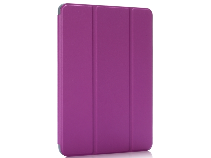Slim Synthetic Leather Case with Stand and Pen Holder for the iPad mini - Purple