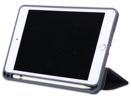 Slim Synthetic Leather Case with Stand and Pen Holder for the iPad mini - Grey Leather Flip Case