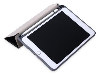 Slim Synthetic Leather Case with Stand and Pen Holder for the iPad mini - Black