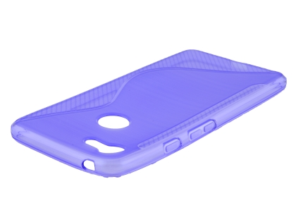 Wave Case for Google Pixel 3a - Purple Soft Cover