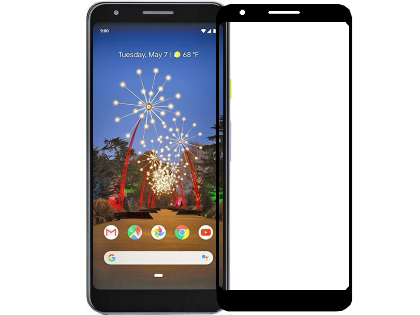 Full Tempered Glass Screen Protector for Google Pixel 3a XL - Black Screen Protector