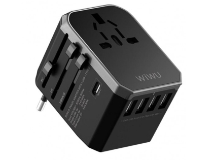 WiWU Overseas Travel Adapter  - Black